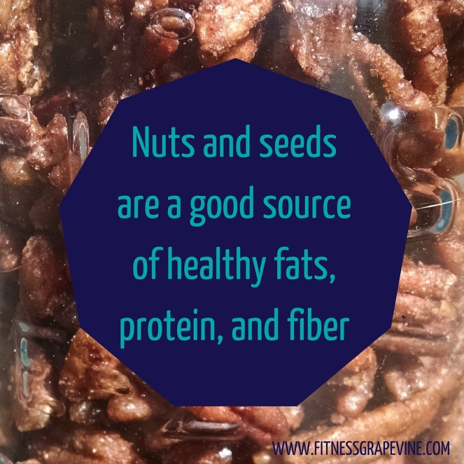 Nuts and seeds are a good source of healthy fats, protein, and fiber